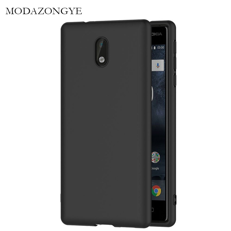 Original MODAZONGYE For <font><b>Nokia</b></font> <font><b>3</b></font> <font><b>Case</b></font> <font><b>Nokia</b></font> <font><b>3</b></font> <font><b>Case</b></font> Soft Silicone Back Cover Phone <font><b>Case</b></font> For Nokia3 TA-<font><b>1032</b></font> TA-1020 5.0 inch image