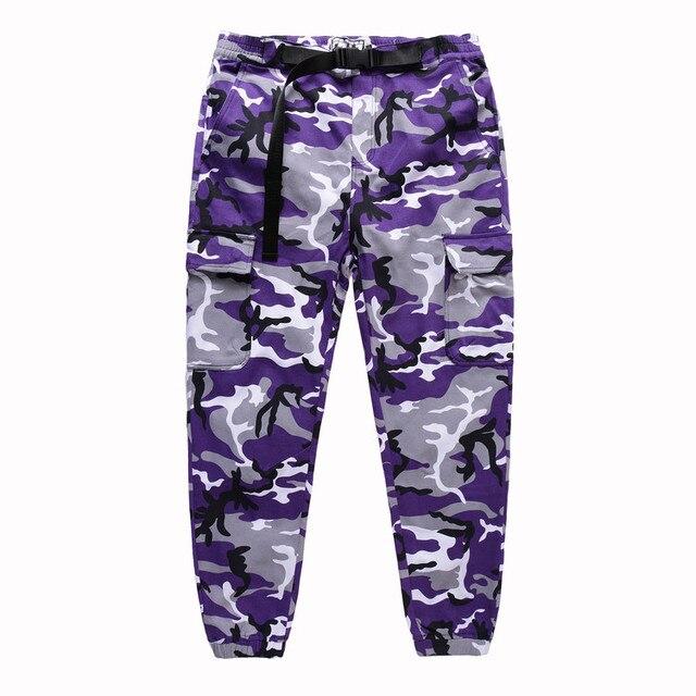 a0bb5c2243e5 2017 Latest TOP KANYE WEST camouflage camo oversized men joggers pants hip  hop justin bieber Pink purple Fashion pants S-XL