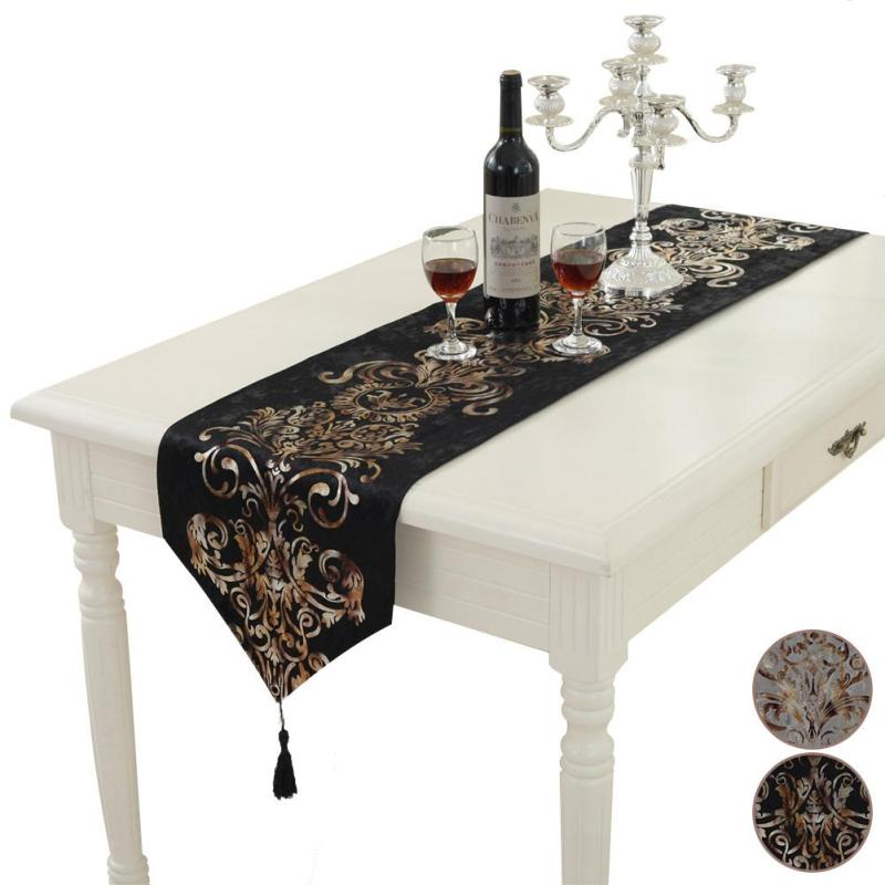European Style Bronzing Table Runners Modern Table Cloth