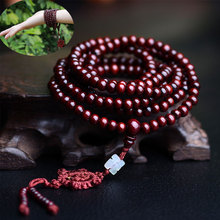 New Fashion 216*0.6cm Sandalwood Tibetan Buddhist Prayer Beads Mala Bracelet Wooden Bangle Jewelr