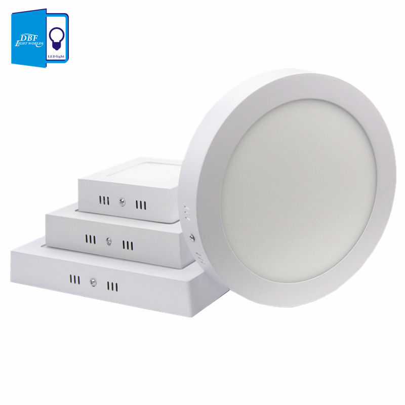 [DBF] 6W/12W/18W Round/Square Led Panel Light Surface Mounted Downlight lighting Led ceiling lamp for Kitchen Room light+Driver