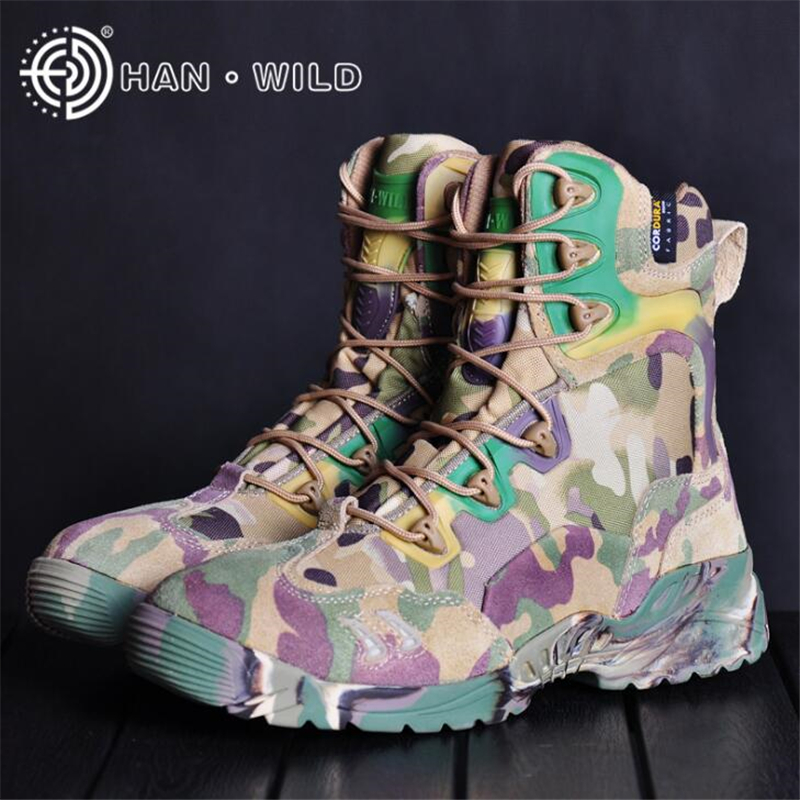 Man Military Boots for Men Combat Shoes Male Camouflage Ankle Boots Infantry Tactical Boots <font><b>Askeri</b></font> <font><b>Bot</b></font> Army Shoes <font><b>erkek</b></font> ayakkabi image