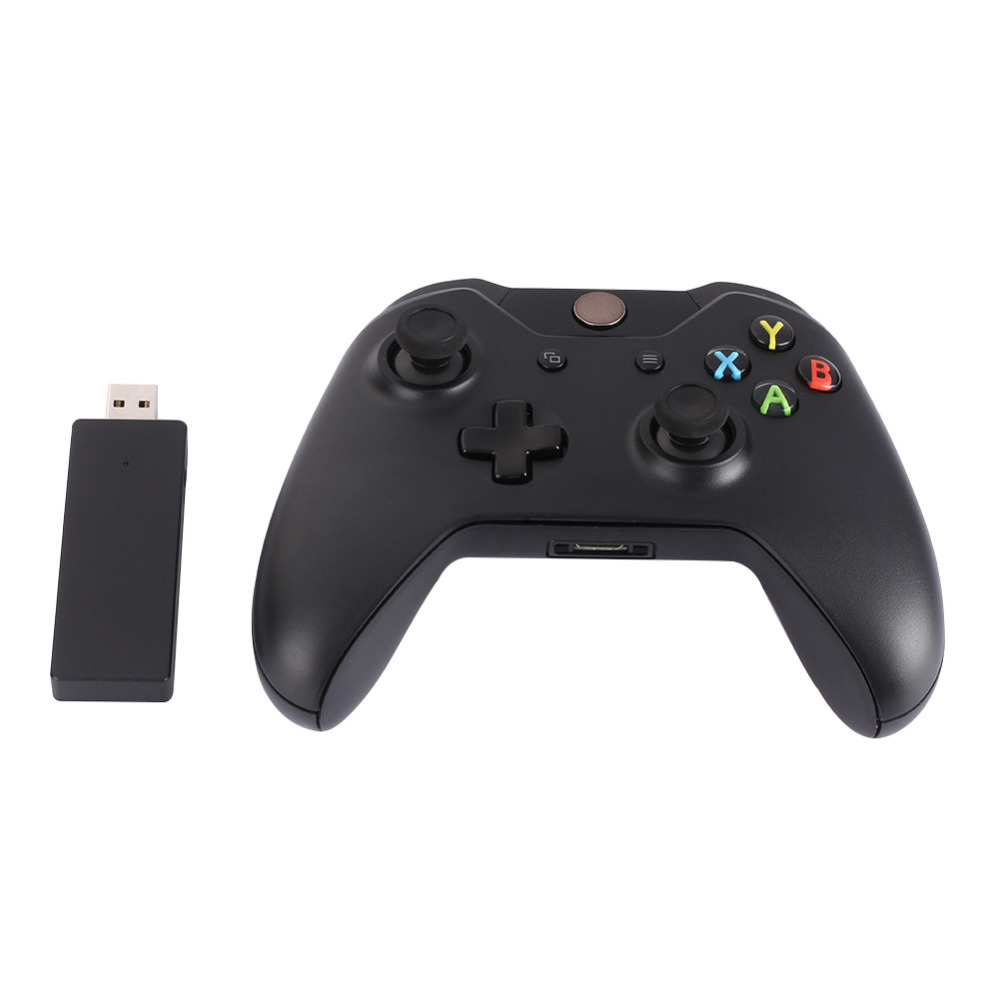 New 2.4GHz Wireless Game Controller Joypad Gamer Gamepad with Controller Receiver ABS Black for Xbox One & Microsoft PC Laptop microsoft xbox one elite gamepad hm3 00005
