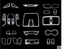 Center Console Panel Stickers Sequin Frame Interior Decoration For Hyundai Creta IX25 2016 Auto Accessories Car styling