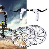 الدراجات دراجة طقم فرامل قرصية G3 دوارات 160 مللي متر عتلات الفرامل كابل فائقة ضوء الألومنيوم واحد قابل للتعديل مكبح قرصي-في مكابح دراجة هوائية من الرياضة والترفيه على