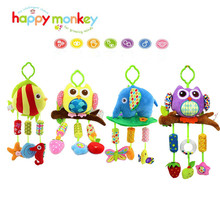 Rattles baby bell baby stuffed owl like a fish 4 lathe hanging toy musical instruments for children to sleep Wheelchairs
