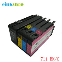 1 Set For HP 711 Ink Cartridge With Ink HP711 For HP DesignJet T120 T520 For