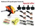 DIY FPV Robocat raça mini drone 270 quadcopter kit quadro quatro eixos de pura CC3D carbono + D2204 + BL12A ESC + CONDUZIU a luz preço Especial