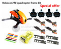 DIY FPV race mini drone Robocat 270 quadcopter frame kit 4-axis pure carbon CC3D + D2204 + BL12A ESC + LED light Special price