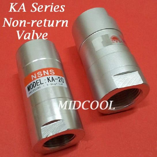 Free shipping Non return valve KA-15 Port 1/2 one way valve,KA series pneumatic check valve