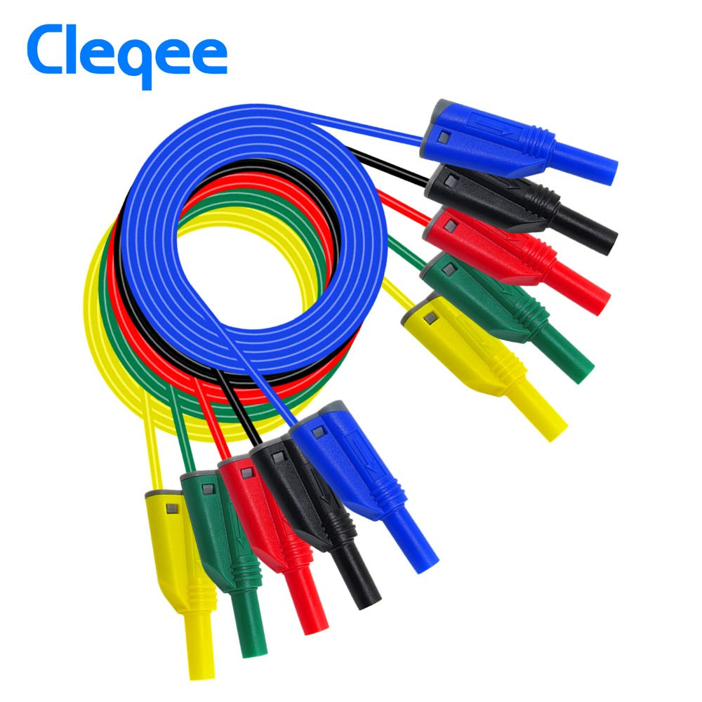 P1050-1 High Quality 4mm Banana Plug Safety Stacked Test Lead Soft Silicone Wire