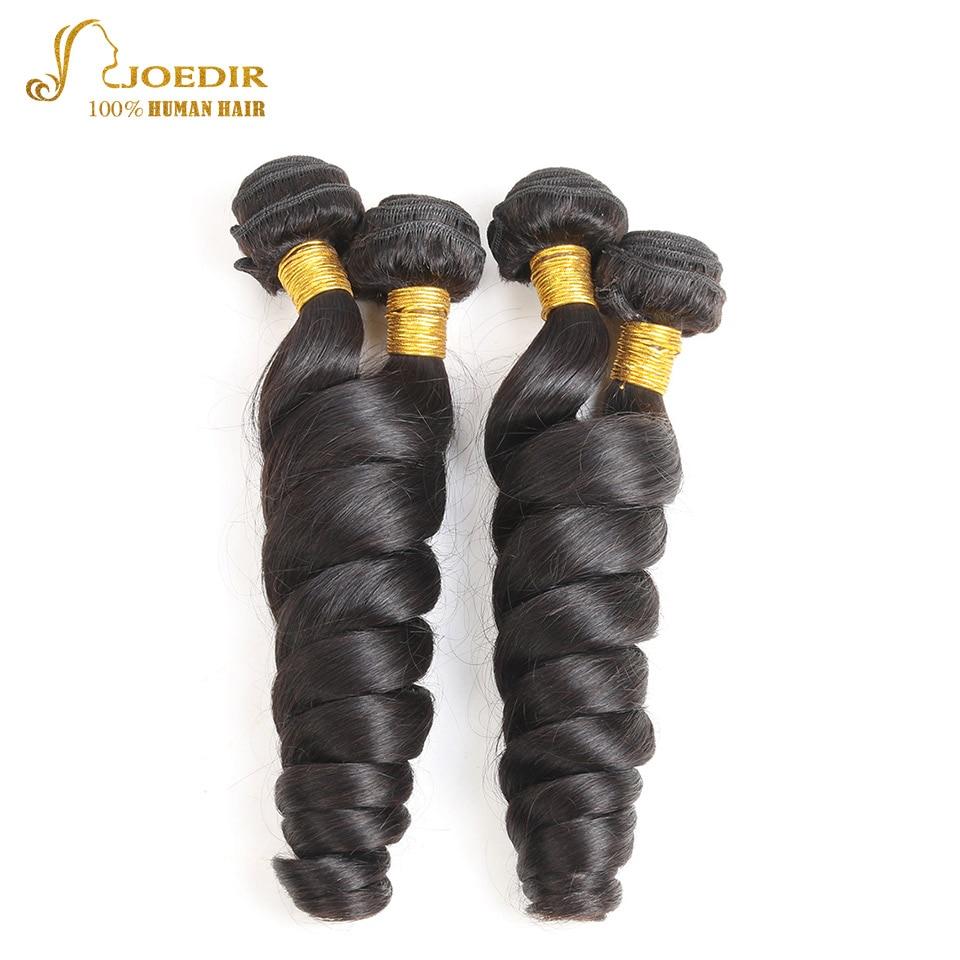 Joedir Peruvian Wet And Wavy Human Hair Extension Natural Black 4 Bundles Deal Loose Wave Hair Bundle 4 Pcs/Lot Human Hair Weave