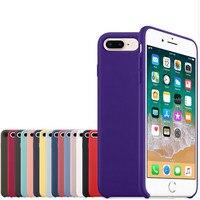 Dla iPhone 8 7 Plus Nowe Kolory Spadek Silicone Case luksusowe Dziennik Projekt Oryginalny Elegancki Pełna Ochrona Telefon przykryć logo