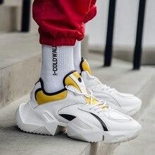 Хип-хоп обувь повседневные мужские массивные кроссовки Япония модные кроссовки Высокая платформа обувь Zapatillas Deportivas Hombre