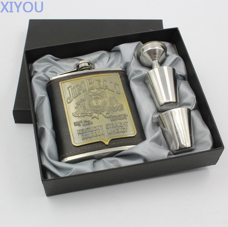 Brand <font><b>Flask</b></font> for Alcohol <font><b>Stainless</b></font> <font><b>steel</b></font> portable outdoor portable Whiskey <font><b>7</b></font> <font><b>oz</b></font> <font><b>JACK</b></font> DANIELS <font><b>Hip</b></font> <font><b>flask</b></font> <font><b>Set</b></font> groomsmen gifts