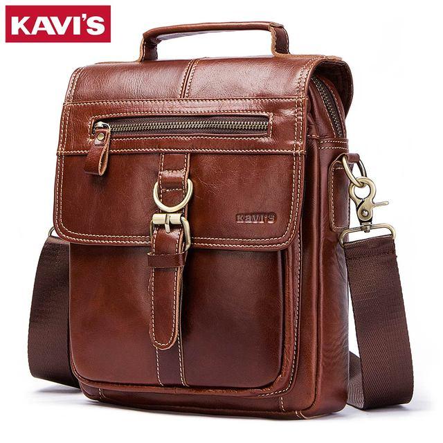 КАВИС 100% пояса из натуральной кожи курьерские Сумки для мужчин Высокое качество сумки Bolsas путешествия бренд дизайн Crossbody сумка для клатч