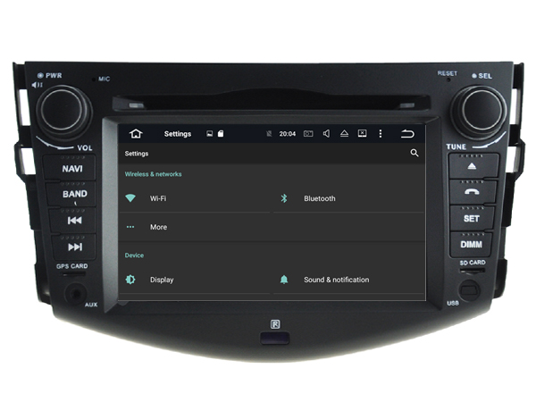Android 9.1 HU Car Radio For TOYOTA RAV4 2006 2012 GPS car multimedia Player car audio player car music player with canbus