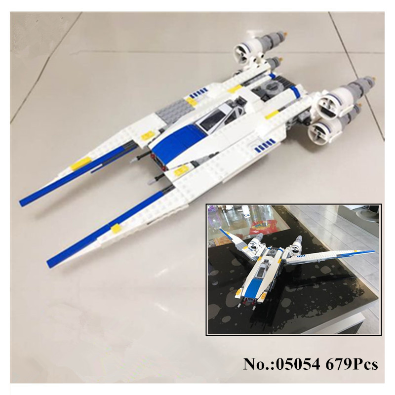 H&HXY IN STOCK 05054 Star 679pcs Series Wars Genuine The Rebel U-Wing Fighter Set Building Blocks Bricks lepin Toys Gifts 75155 конструктор lepin star plan истребитель повстанцев u wing 679 дет 05054