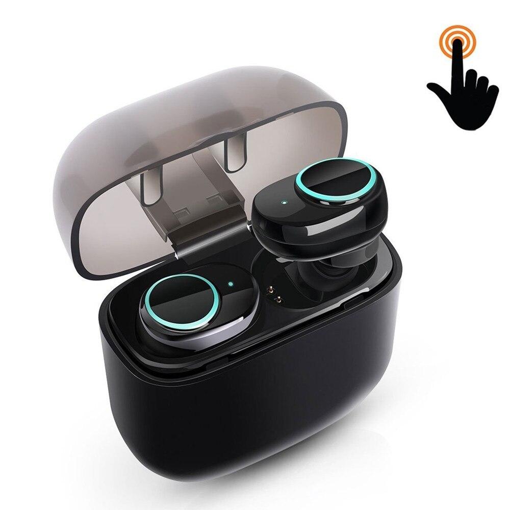 Sans fil Écouteurs Tactile Contrôle Bluetooth Casque Antibruit Casque Sweatproof Stéréo In-Ear Écouteur Écouteur Air gousses