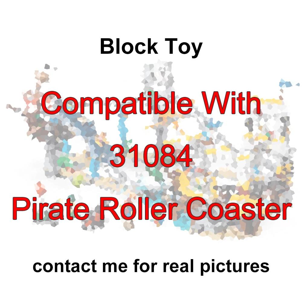 Fit City Creator 31084 pirat Roller Coaster 3 w 1 zestaw Mini figurki 1033 sztuk klocki DIY zabawki dla dla dzieci prezent dla dzieci w Klocki od Zabawki i hobby na  Grupa 2