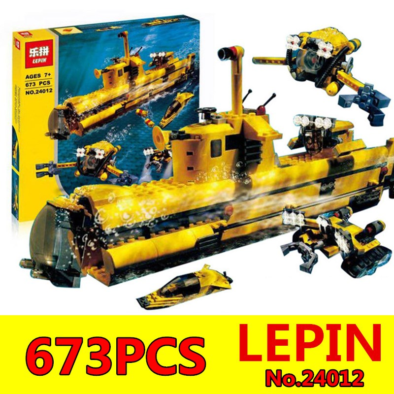 LEPIN 24012 Creative The Underwater Explora Ship Set Children Educational Building Blocks Bricks Education Boy`s Toys Model 4888 xipoo 6 in 1 blue military ship diy model building blocks bricks sets educational gift toys for children boy friends