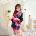 New Floral Robes Women Wedding Bridal Kimono Robe Flower Lady Spa Night Dress