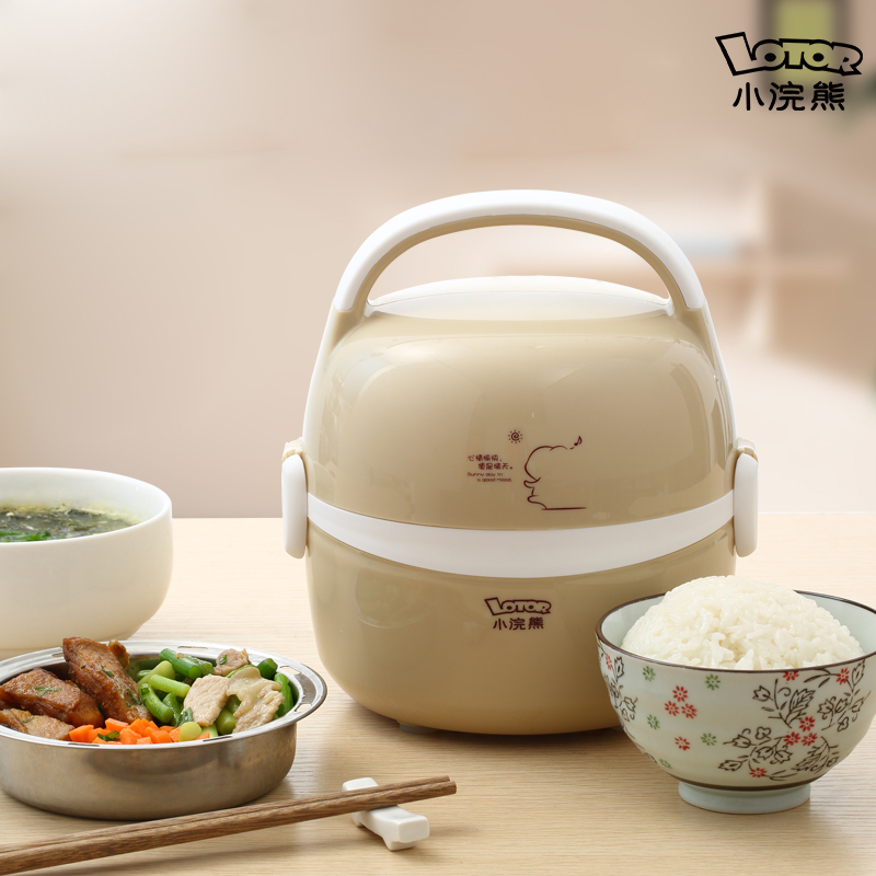Electric Lunch Box Double Stainless Steel Liner Heat The Lunch Box Hot Meal Plug In Heating Lunch Box Steamer 3 layer rice cooker 2l electric heating lunch box stainless steel liner portable steamer food container thermal box 200w 220v