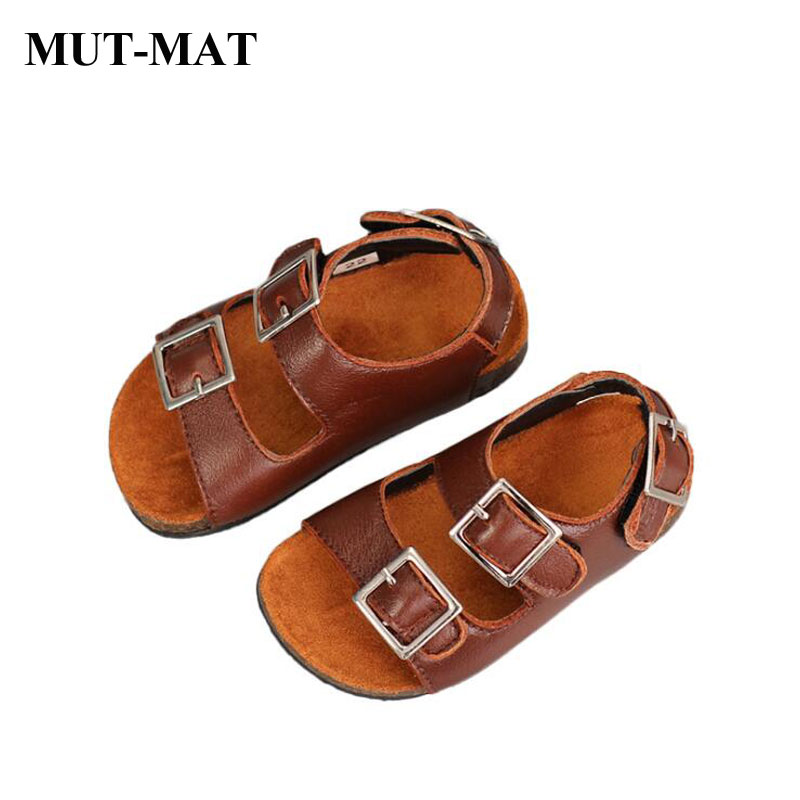 Children's Genuine  Leather Shoes  Boys And Girls Fashion Sandals Softy Summer Holiday Beach Shoes