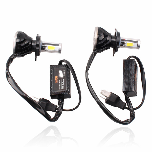 2pcs LED Headlight H4 H4-3 H4 H/L for Car Automobile Motorcycle LED Headlamp DRL Fog Light 2015 Fog lamp with Fan Play & Plug