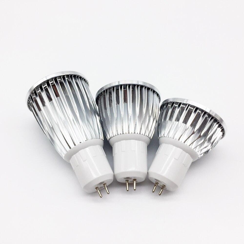 Купить с кэшбэком LED COB Spotlight New  bulbs Lampada Led spot MR16 GU5.3 COB 6w 9w 12w Dimmable Led Cob Spotlight  MR16 12V Bulb Lamp GU5.3 220V