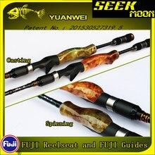 YUANWEI 1.98m 2.1m Vara De Pesca Fiação Lançando Vara 2Sec ML/M/MH Raiz De Madeira Mão de Carbono vara isca Vara Vara De Pesca Olta B184