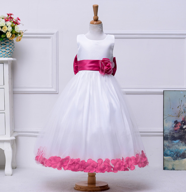 High Quality 13 Colors New Flower Girl Dress for Wedding Princess Girls Pageant Dresses 2016 First Communion Dress SA843
