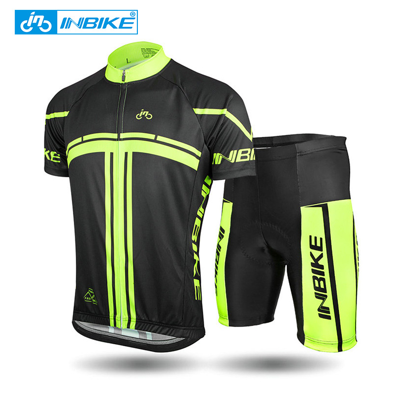 INBIKE Cycling Jersey Short Sleeve Cycling Set Mountain Bike Clothing Breathable Bicycle Jerseys Clothes Ciclismo Men MTB Jersey