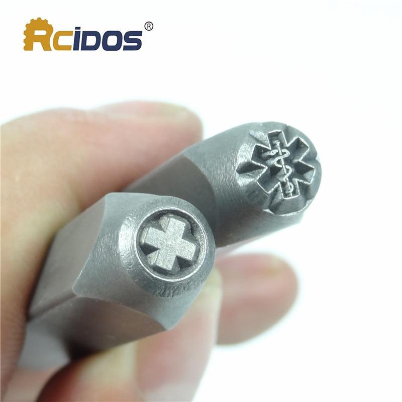 Us 8 55 5 Off Medical Alert Symbol Pattern Metal Jewelry Design Stamps Diy Bracelet Jewelry Symbols Steel Stamp Soft Color Metal Die In Tools From