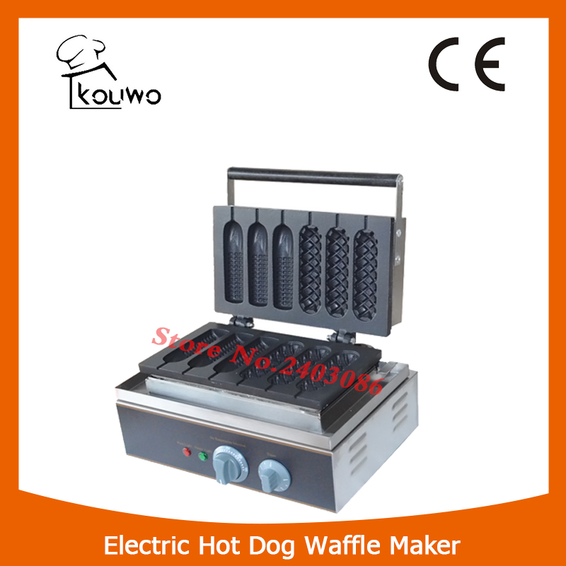 Professional kitchen appliance automatic electric non Stick Plate 6 stick Lolly hot dog Waffle baker for sale