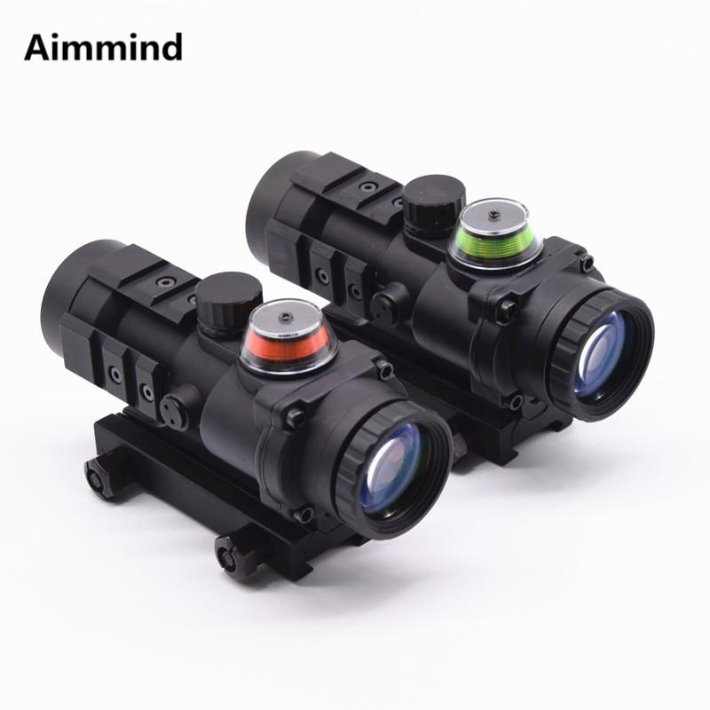 Ak 47 Optical Hunting Shooting HD Glasses Red Dot Fiber Optic Sight Collimator 3x32 Gun Mental Pistol Telescopic Rifle Scope