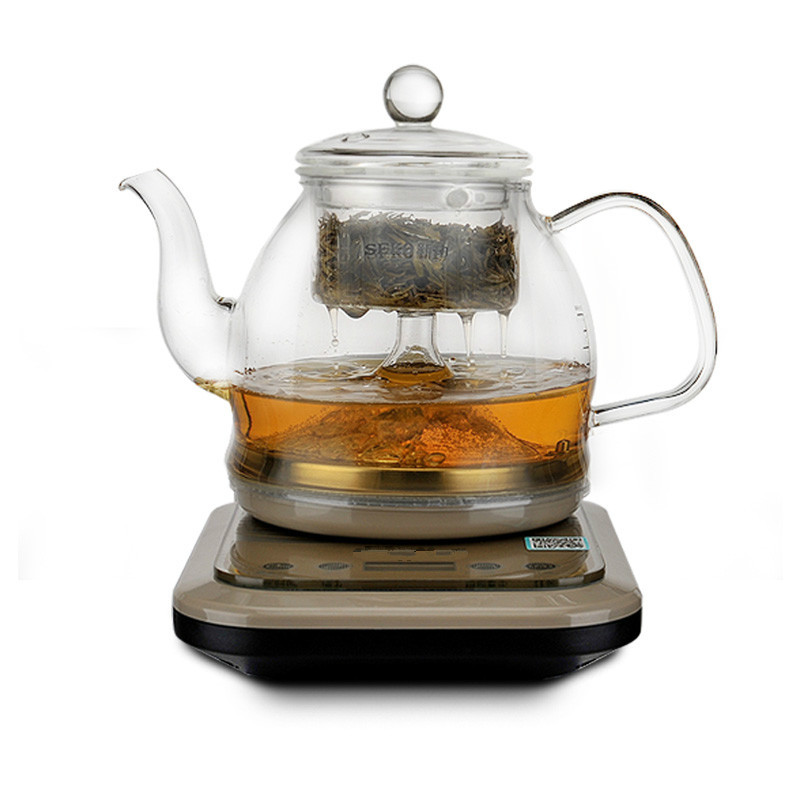 Intelligent steam wake tea bubble pot fully automatic glass brew machine spray black teapot цена