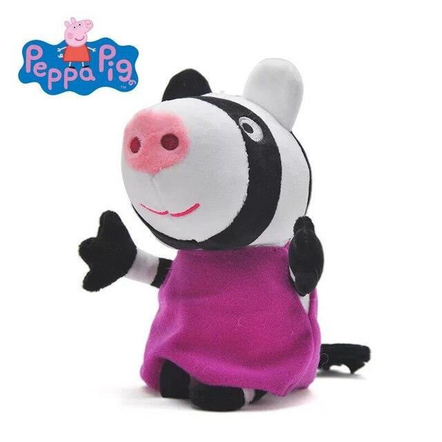 250 91 руб 25 скидка 1pc Genuine Peppa Pig Zoe Zebra Peppa Pig My Friend Plush Toys Size 19cm купить на Aliexpress