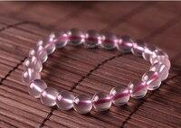 10 13mm Genuine Natural Star Light Pink Quartz Crystal Round Beads Jewelry Women Lady Stretch Charm Love Bracelet