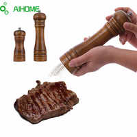 AIHOME Wooden Salt & Pepper Grinders Salt And Pepper & Spice Grinders Mills Manual Pepper Mill 2 Sizes Creative Kitchen Tools