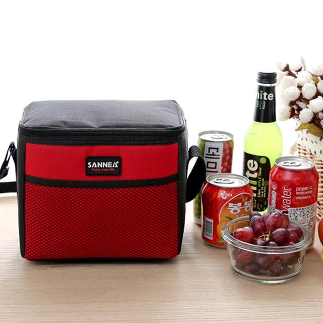 Tote refrigerador Portátil Piquenique Viagem Kit Necessidade bolsa termica Lancheira Saco Térmico Bolsa Térmica Duplas Lunch Saco Térmico