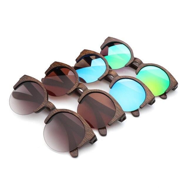 BerWer Marrone Colore di Bambù Occhiali Da Sole Da Uomo occhiali Da Sole di Legno Delle Donne di Marca di Occhiali In Legno Oculos de sol masculino