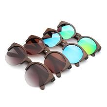 Berwer óculos de sol unissex, óculos de sol de madeira de bambu