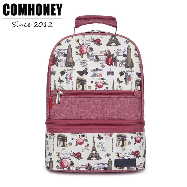 416ce6df6c6 Women Backpack Detachable Diaper Bag Mom Dad Backpacks Floral Lunch Box  Large Capacity Thermal Maternity Nappy Changing Backpack