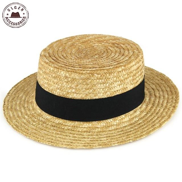 33f97157e18 Fashion Summer Straw Hat for Women straw pork pie hat with ribbon women s summer  hat