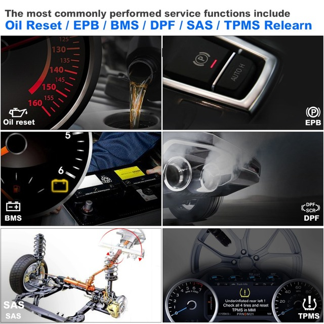 100% outil de Diagnostic de voiture Autel MK808BT OBD2 Scanne fonctions d'epb/IMMO/DPF/SAS/TMPS mieux que le lancement X431 pour Audi 2