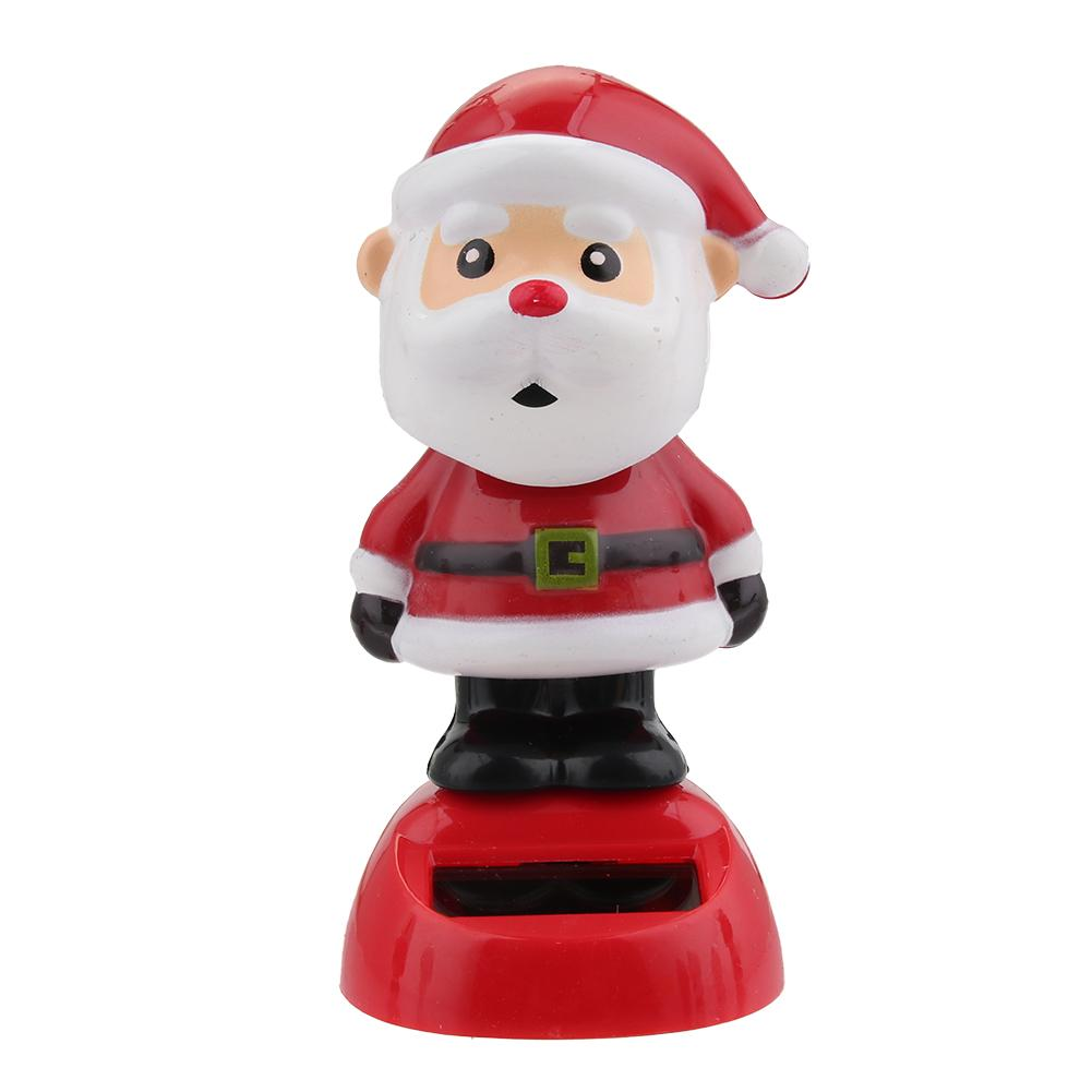 Восхитительная новинка, игрушки на солнечных батареях, движущиеся, рождественские, Санта Клаус, танцующая панда, домашний стол, декор для автомобиля, рождественские игрушки, подарки для детей - Цвет: A