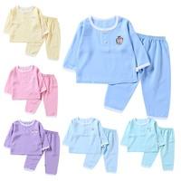 Children Clothes Baby Sleepwear Set Toddler Baby Boys Girls Cotton Long Sleeve Blouse Tops+Trousers Sleepwear Pajamas Set