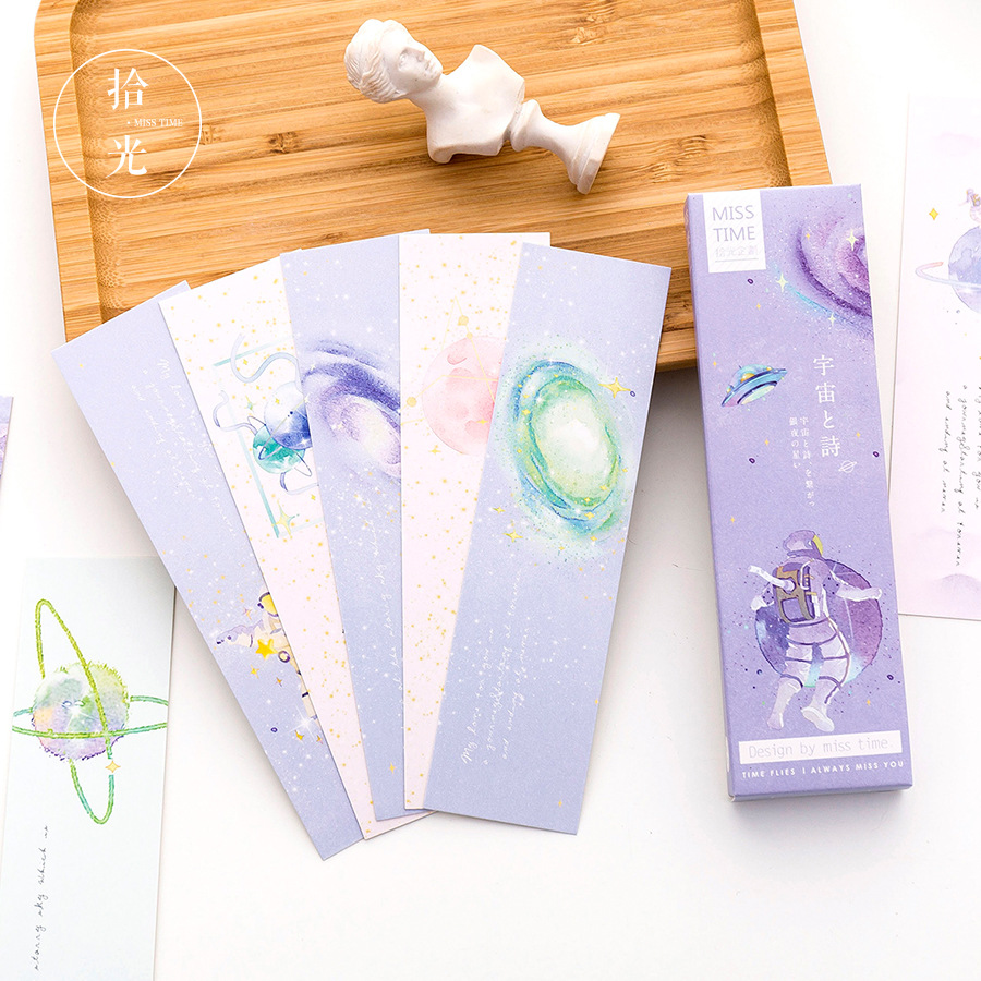 30 Pcs/pack Universal Poetry Bookmark Paper Cartoon Animals Bookmark Promotional Gift Stationery Film Bookmark