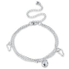 Hot Sale! High Quality New Fashion Jewelry, Cute Silver Plated Anklet, Silver Plated Gourd Charm Anklet & CZ Bracelet for Women